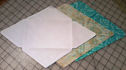 Pieces to make the fabric envelope
